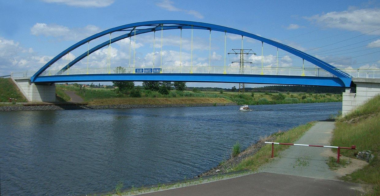 Blaues Band in Sachsen-Anhalt - Kanäle Kilometrierung